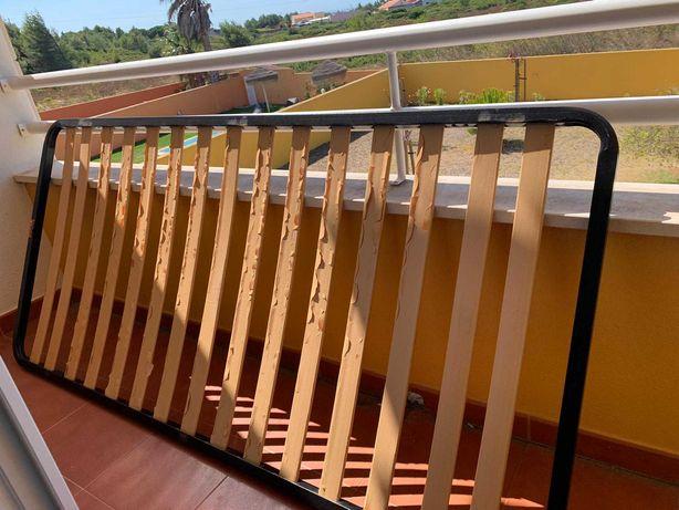 Base de madeira para cama individual