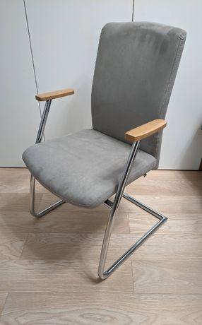 Krzesło /Fotel płoza chrom stan bardzo dobry