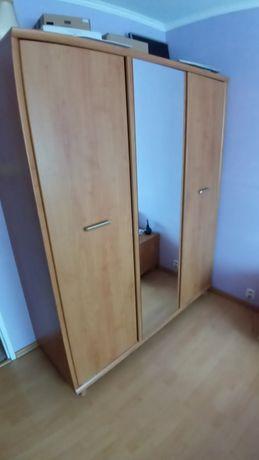 Sypialnia BRW SYRIUSZ łóżko, szafa i dwie szafki nocne