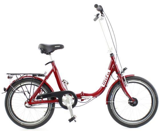 Składak rower składany niska rama 3 biegi Shimano Mifa Nexus czerwony