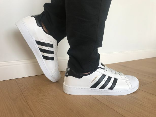 Adidas Superstar. Rozmiar 43. Białe - Czarne paski. Bardzo modne!