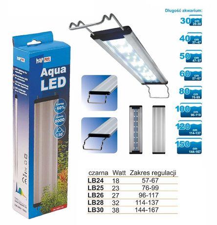 BELKA LED Oświetlenie Lampa 23W 76-99cm 8000K do akwarium 80x35