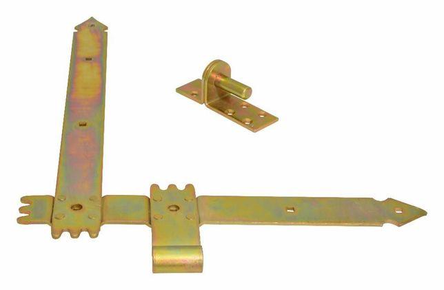Zawias kątowy 400x300x40x3,5mm, narożny, bramowe