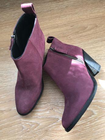 кожаные сапоги Jigsaw h&m zara