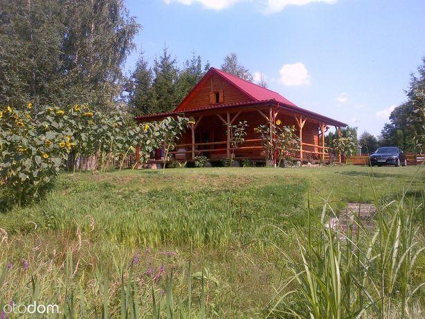 Dom nad jeziorem drewniany