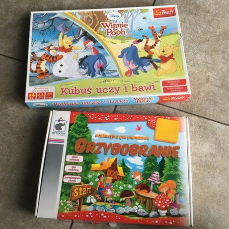 Gra planszowa dla dzieci Grzybobranie + Kubuś uczy i bawi - 2 plansze