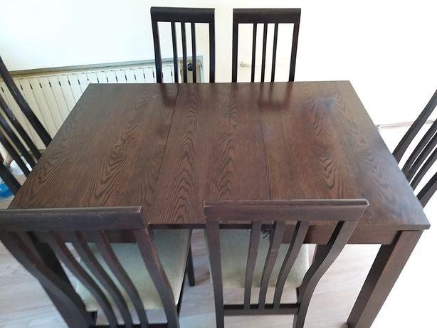 Stół rozkładany 95x175 i 6 krzeseł