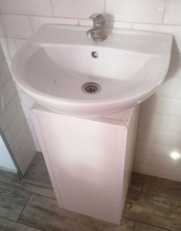 Umywalka ze stojakiem szer. 50cm + bateria + syfon - KOMPLET - OKAZJA