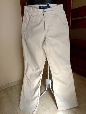 Beżowe damskie spodnie bawełniane Fishbone S