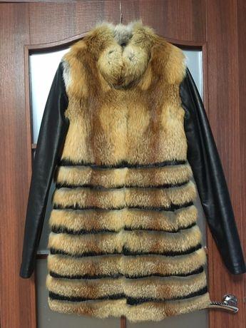 Шуба-жилетка из лисицы