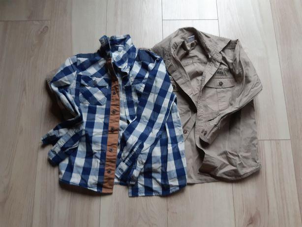 Zestaw dla chłopca 116, kurtka parka + dwie koszule.
