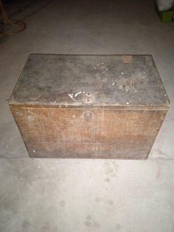 Stary kufer skrzynia retro antyk