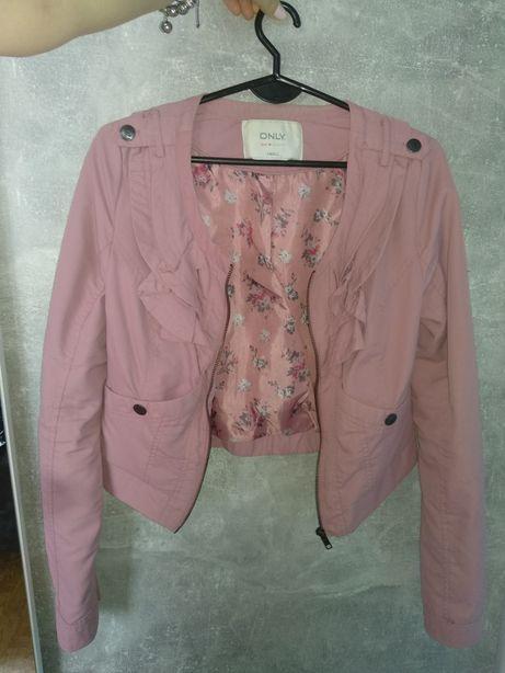 Różowa kurtka krótka ONLY śliczna z podszewką roz. S