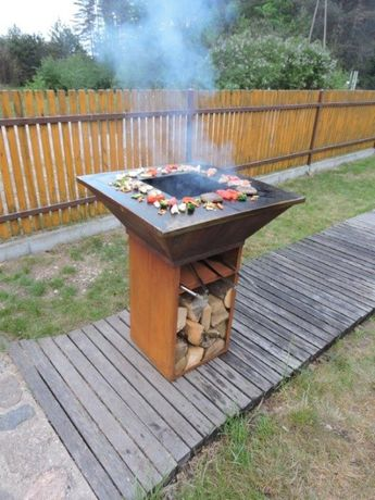 corten  , grill gastronomiczny , grill ogrodowy , kwadrat 100 kg