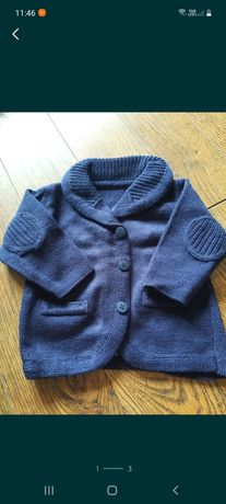 Sweterek marynarka 68-74, 92