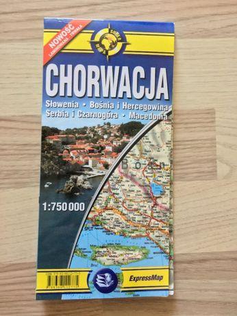 Mapa Chorwacja, laminowana, 1: 750 000 ExpressMap