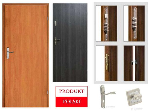 Wejściowe drzwi do bloku - wewnątrzklatkowe - z montażem