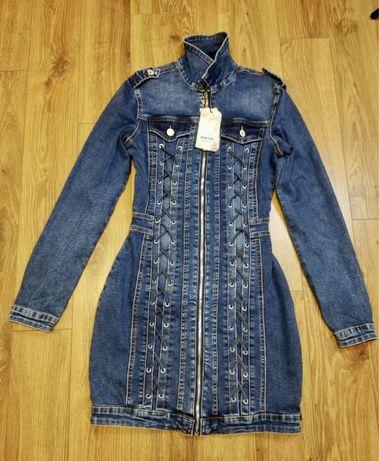 Sukienka jeans NOWA S