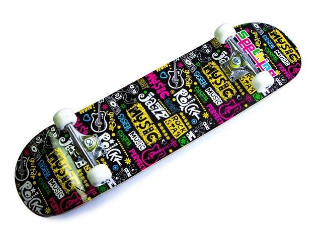 """Скейтборд для трюков Scale с рисунком """"Music"""" до 80 кг"""