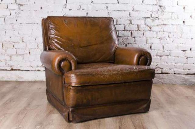 Fotel skórzany do renowacji