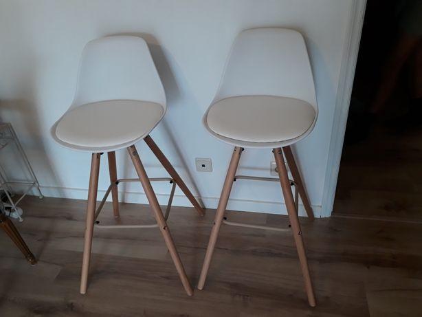 Cadeiras brancas tower altas NOVAS (tipo bar)