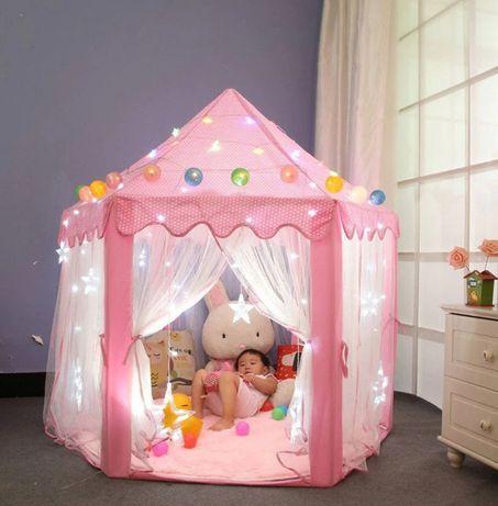 Детская игровая палатка - домик Большая детская беседка Розовая 140см