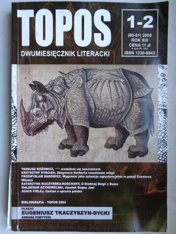 TOPOS nr 1-2 / 2005 Dwumiesięcznik Literacki