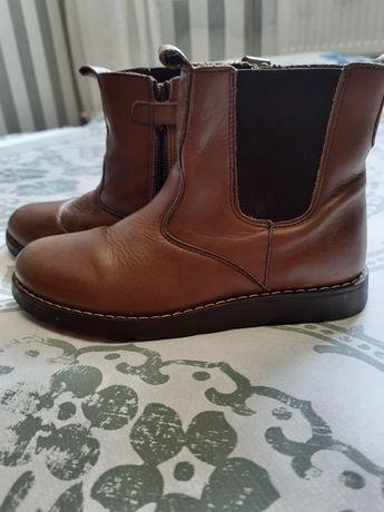 кожаные ботинки полу сапоги