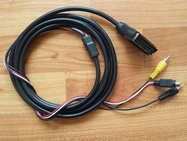 Kabel eurozłącze SCART do S-Video przejściówka adapter video