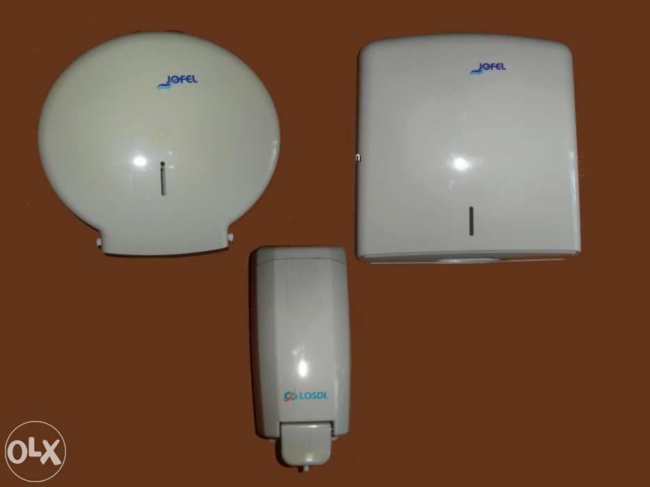 Dispensadores Plásticos p/WC (Toalhas, Papel Hig. e Sabonete Líquido)