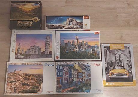 Sprzedam puzzle, 7 pudełek
