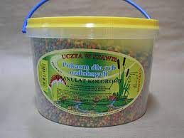 Pokarm dla ryb granulat kolorowy akwarium oczko wodne