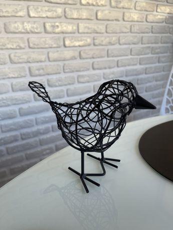 Птица декор плетеная из железной проволоки
