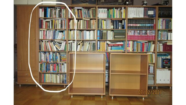 Regał na książki biblioteczka Black Red White