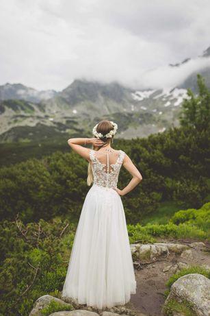 Suknia ślubna Margarett, rozmiar 34/36, welony GRATIS
