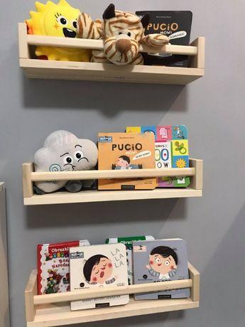 POMOCJA Półka na książki drewniana biblioteka PUCIO półeczka