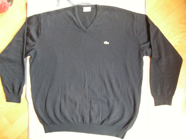 Męski wełniany sweter Lacoste L/XL wełna 100% pulower woolmark wool