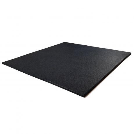Mata gumowa kwadrat czarna 1m x 1m x 15mm - siłowna crossfit fitness