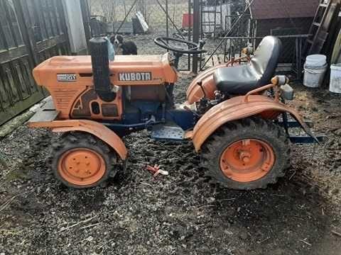 Traktor~Kubota ze sprzętem~Stan BD.