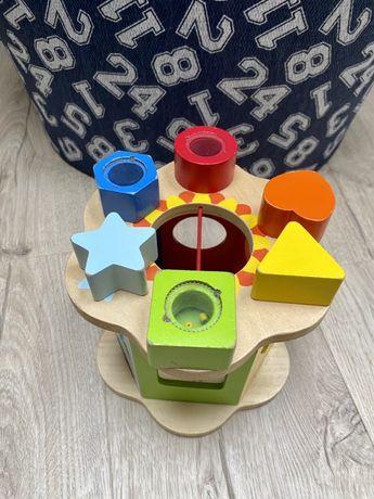 Drewniany sorter kształtów