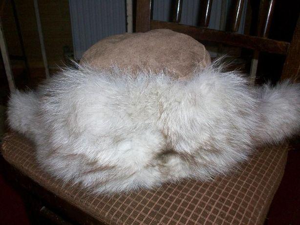 Шапка-ушанка песцовая