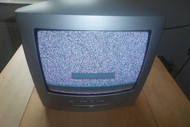 telewizor PHILIPS 14 cali, z DVD, używany, bez pilota, za 150 zł