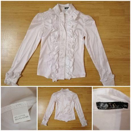Белая блузка, рубашка для школьниц