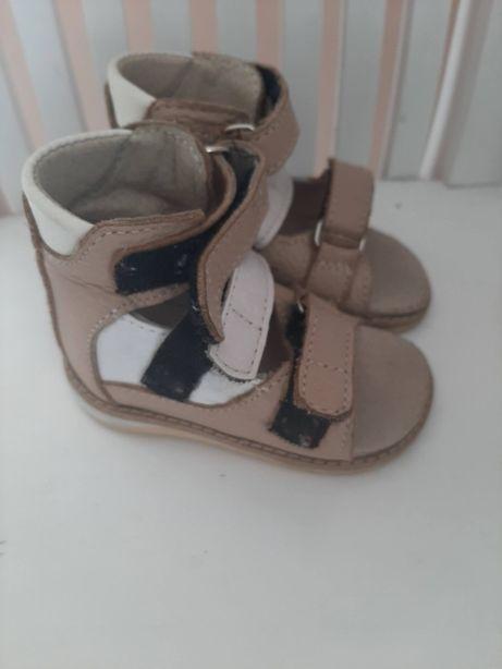 ортопедичні шкіряні сандалі ortofoot 12,5