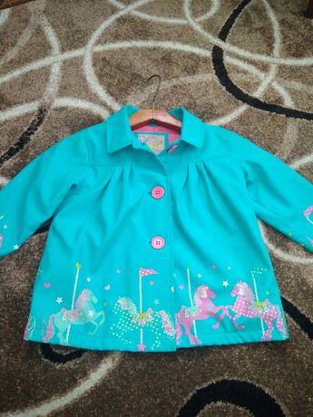 Плащ курточка ветровка дождевик для девочки на флисе Onme Buitique