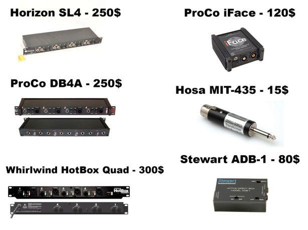 Дибокс ProCo iFace, DB4A, Horizon SL4, Whirlwind Hotbox, DIbox