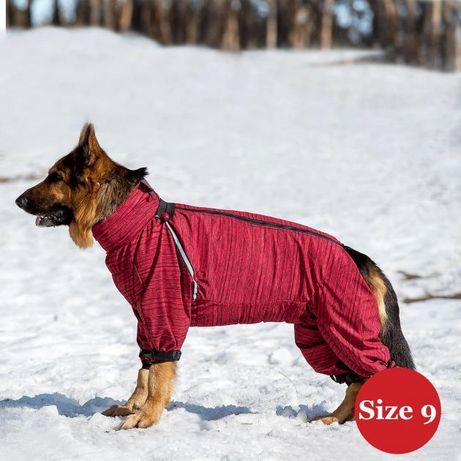 Зимний комбинезон для собак Darwin Diego красный (для девочек)