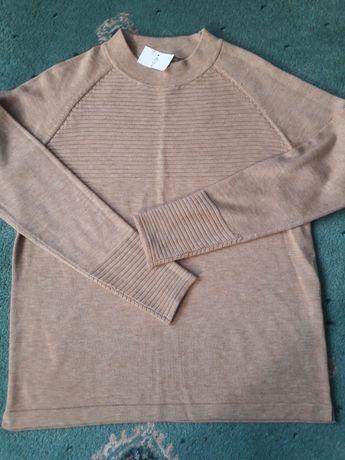 camelowy sweterek bluzeczka półgolf kardigan nowy