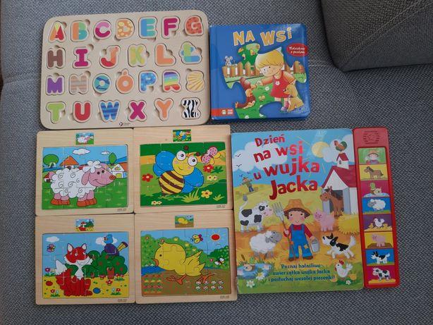 Puzzle alfabet i książeczki