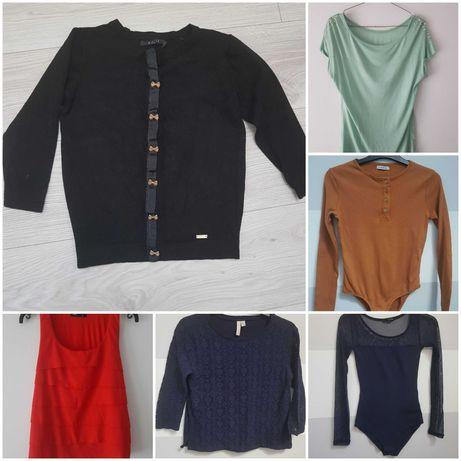 damskie ubrania sukienka sweter body xs s